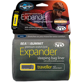 Sea to Summit Expander Liner Para Viajes con Funda para Almohada, navy blue